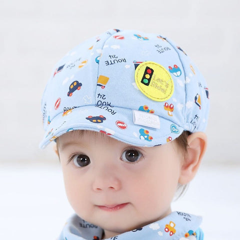 Lovely Baby Hat Kids Kids Hat Toddler Infant Hat Little Car Print Baseball Beret Cap Christmas Gift for Children