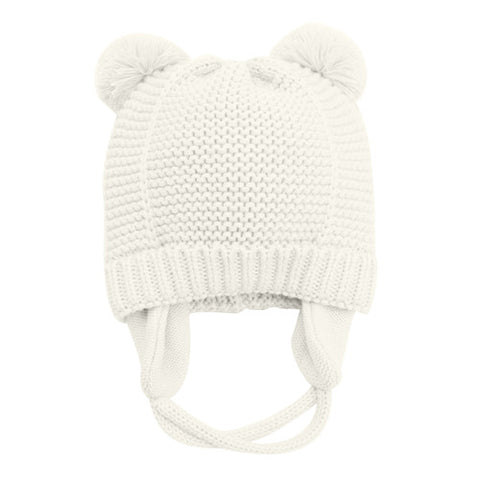 Bear Ears Cute Baby Hat Soft Cotton Newborn Baby Beanie Double Layer Warm Winter Hat For Baby Girls Boys Knitted Kids Hats