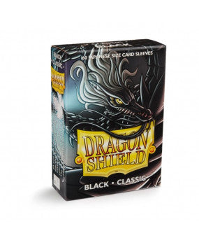 Dragon Shield Black Classic 60 sleeves SMALL Size - OutpostGaming - Stay Safe
