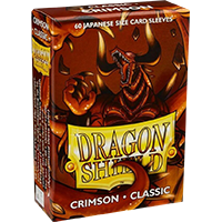 Dragon Shield Classic Crimson 60 sleeves SMALL Size