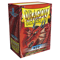 Dragon Shield Classic Red 100 sleeves Standard Size