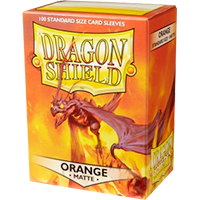 Dragon Shield Matte Orange 100 Sleeves Standard Size