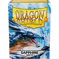 Dragon Shield Matte Sapphire 100 Sleeves Standard Size