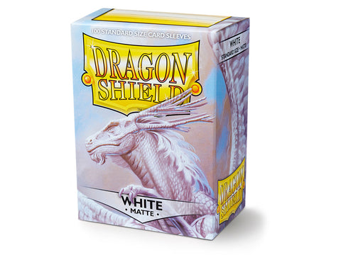 Dragon Shield Matte White 100 Sleeves Standard Size