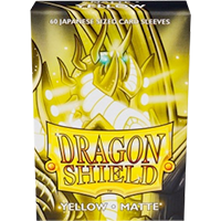 Dragon Shield Matte Yellow 60 sleeves SMALL Size