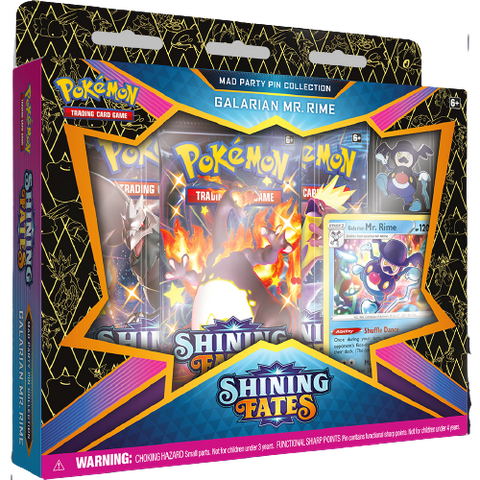 Shining Fates Mad Party Pin Collection Galarian Mr. Rime