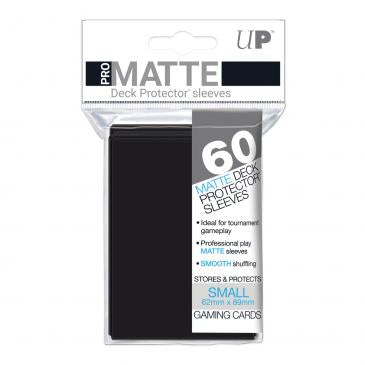 Ultra Pro Matte Black 60 Sleeves SMALL Size - OutpostGaming - Stay Safe