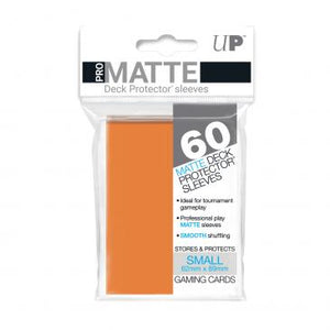 Ultra Pro Matte Orange 60 Sleeves SMALL Size - OutpostGaming - Stay Safe