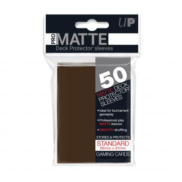 Ultra Pro Matte Brown 50 Sleeves Standard Size - OutpostGaming - Stay Safe