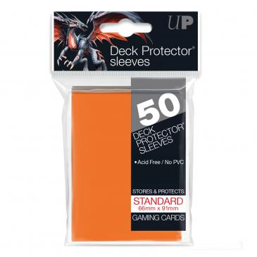 Ultra Pro Orange 50 Sleeves Standard Size - OutpostGaming - Stay Safe