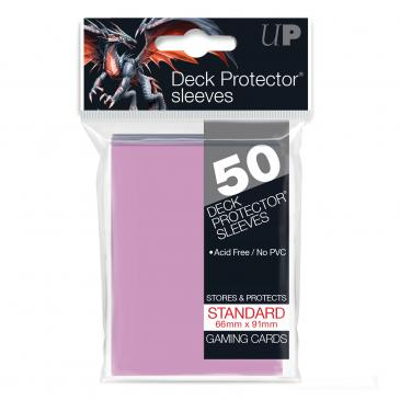 Ultra Pro Pink 50 Sleeves Standard Size - OutpostGaming - Stay Safe