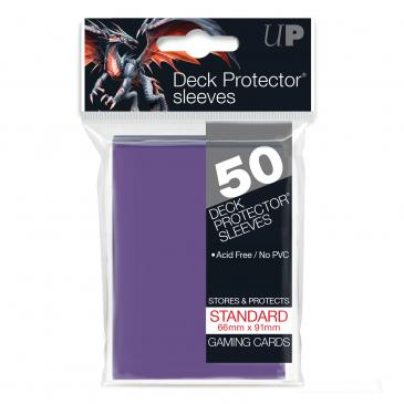 Ultra Pro Purple 50 Sleeves Standard Size - OutpostGaming - Stay Safe