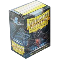 Dragon Shield Matte Black 100 sleeves Standard Size - OutpostGaming - Stay Safe