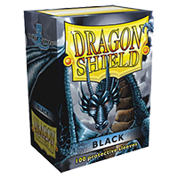 Dragon Shield black Classic 100 sleeves Standard Size - OutpostGaming - Stay Safe