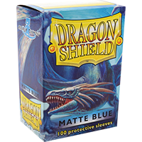 Dragon Shield Matte Blue 100 Sleeves Standard Size - OutpostGaming - Stay Safe