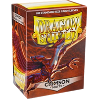 Dragon Shield Matte Crimson 100 Sleeves Standard Size - OutpostGaming - Stay Safe