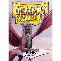 Dragon Shield Matte Pink 100 Sleeves Standard Size - OutpostGaming - Stay Safe