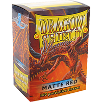 Dragon Shield Matte Red 100 Sleeves Standard Size - OutpostGaming - Stay Safe