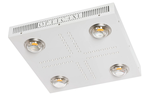 Optic 4 XL Dimmable COB LED Grow Light 460w (UV/IR) 3500k COBs (Veg, Flower)
