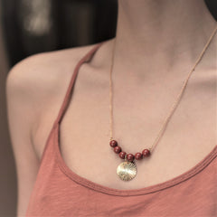 Collier en Jaspe rouge