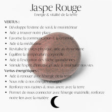 Load image into Gallery viewer, Fiche Descriptive Jaspe Rouge