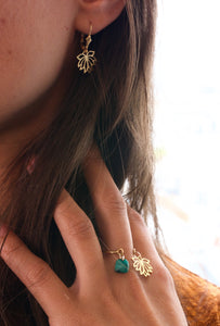 Bague Talisman Lotus en Malachite