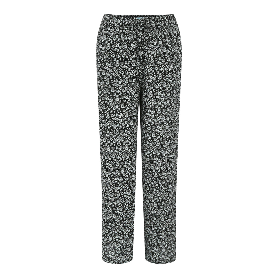 Printed Trousers (Daisies / Black)