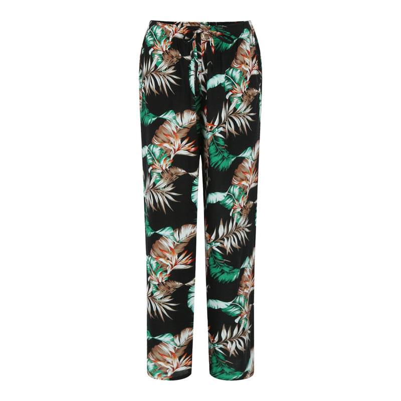 Printed Trousers (Floral / Black)