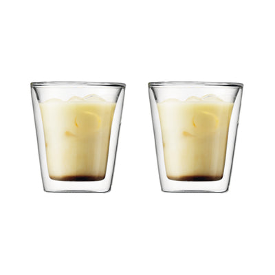 Canteen Double Wall Glass, Set Of 2