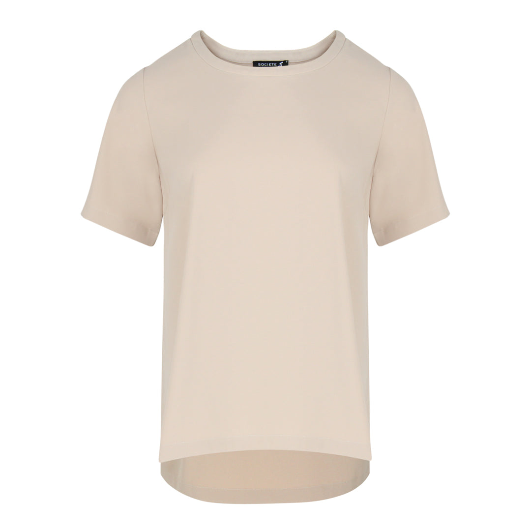 Short Sleeve Top in Beige
