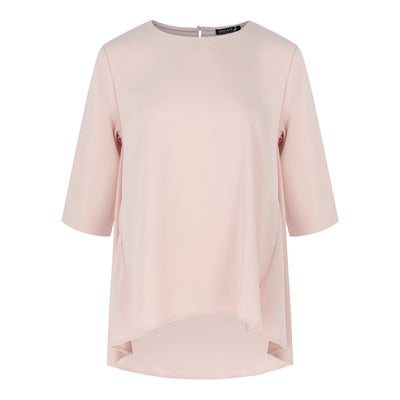 3/4 Sleeve Top in Light Pink