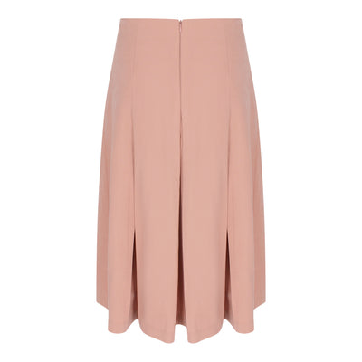 Pleated Midi Skirt in Dusty Pink