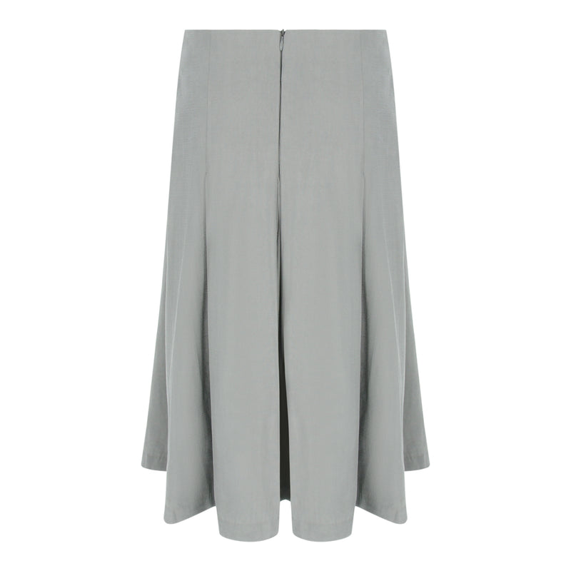 Pleated Midi Skirt in Grey