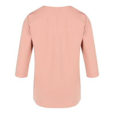 Mid Sleeve Top in Dusty Pink