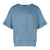 Short Sleeve Boxy Top With Patch Pocket in Dirty Blue