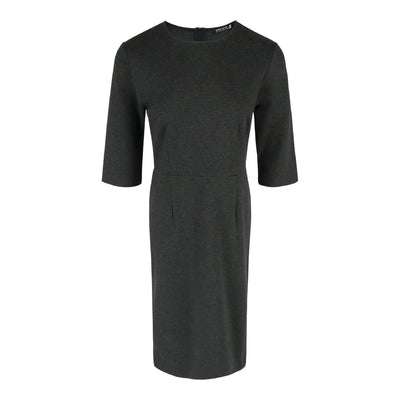 Mid Sleeve Form Dress in Charcoal
