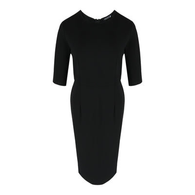 Mid Sleeve Form Dress in Black