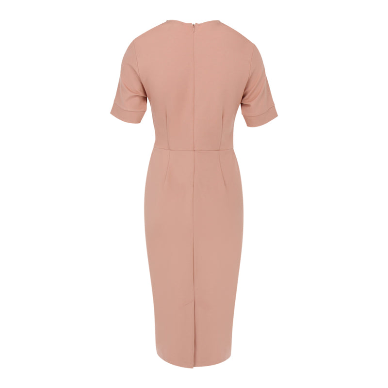 Mid Sleeve Form Dress in Dusty Pink