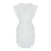 Sleeveless 2 Tiers Lace Dress in White