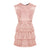 Sleeveless 2 Tiers Lace Dress in Salmon Pink