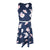 Sleeveless Dress With PU Belt in Navy Floral