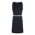 Sleeveless Dress With PU Belt in Navy Solid