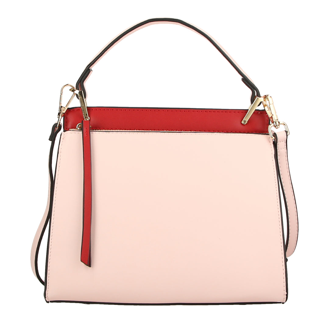 Two Tone Handle Bag (Red/Pink)