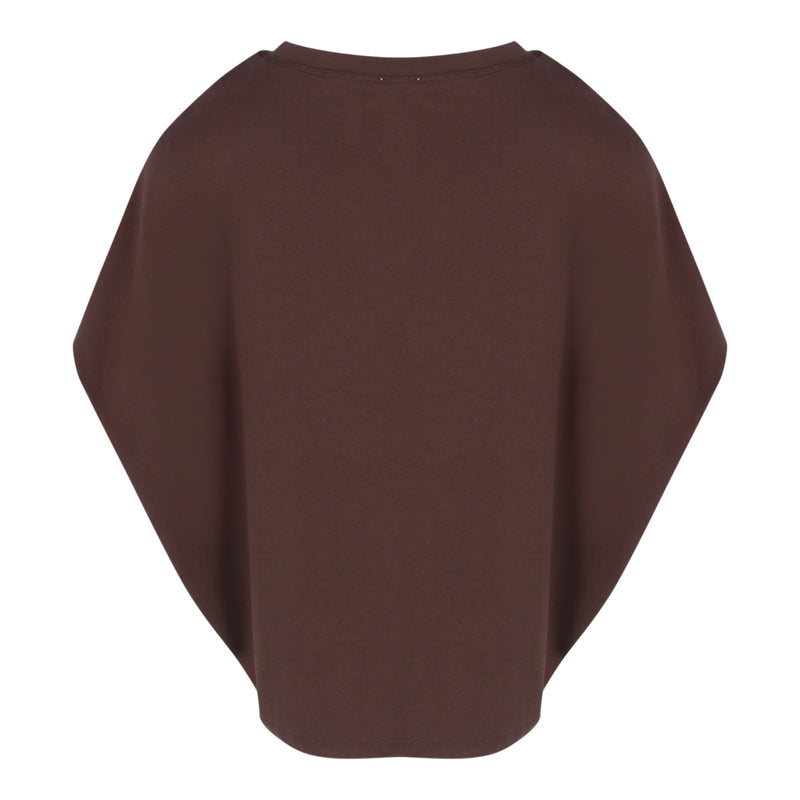 Knit Cocoon Top in Brown