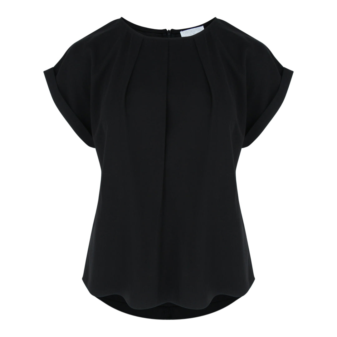 Cap Sleeve Blouse in Black