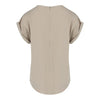 Cap Sleeve Blouse in Khaki