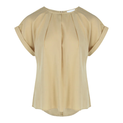 Cap Sleeve Blouse in Mustard