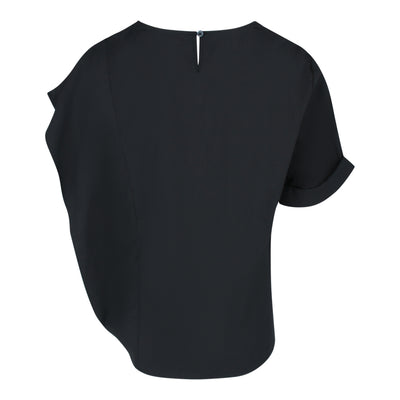 Irregular Sleeve Top in Black