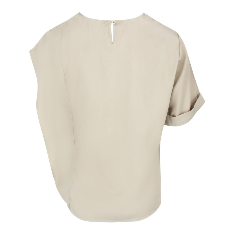 Irregular Sleeve Top in Bronze