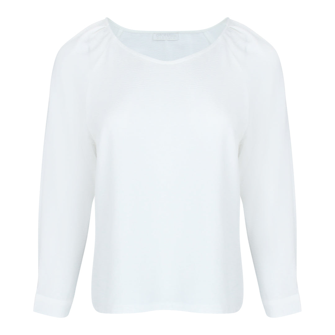 Long Bell Sleeve Top in White